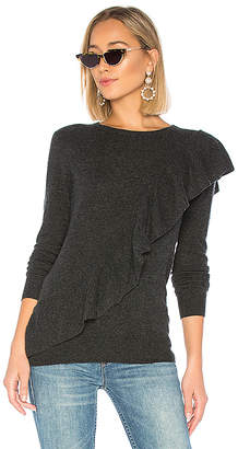 Autumn Cashmere Asymmetric Ruffle Sweater