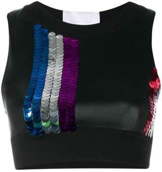 NO KA 'OI No Ka' Oi sequin embellished sport top
