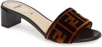 Fendi Logo Slide Sandal