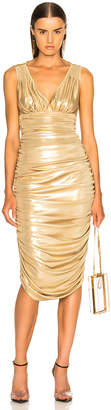 Norma Kamali Tara Dress in Gold | FWRD