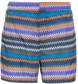 Missoni Mare zig-zag stripe print swim shorts