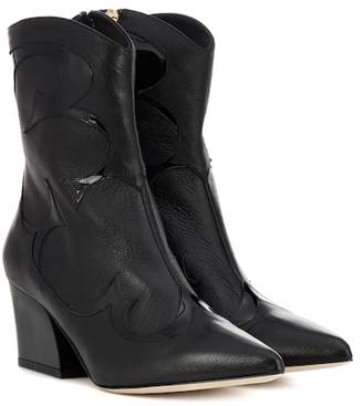 Tibi Felix leather cowboy boots