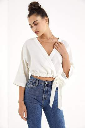 Urban Outfitters Kimmy Wrap Cropped Top