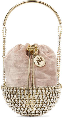 Rosantica Kingham Embellished Velvet Clutch - Gold