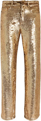 IRO Construction Gold Sequin Pants