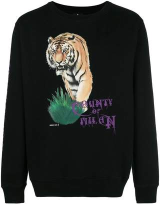 Marcelo Burlon County of Milan Tiger crewneck sweatshirt