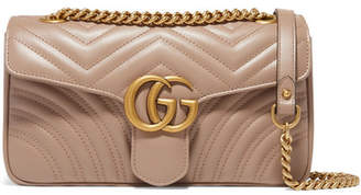 Gucci Gg Marmont Small Quilted Leather Shoulder Bag - Beige