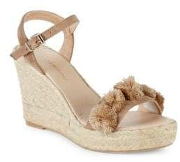 Saks Fifth Avenue Suede Espadrille Wedge Sandals