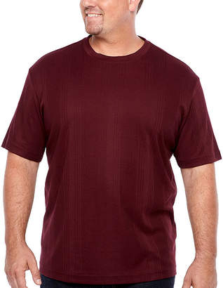 Claiborne Mens Short Sleeve T-Shirt-Big and Tall