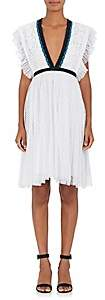 Philosophy di Lorenzo Serafini Women's Contrast-Trimmed Lace Minidress-White
