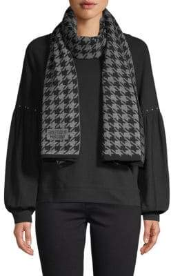 Moschino Houndstooth Knit Scarf