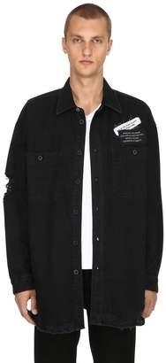 Diesel Oversized Cotton Denim Shirt Jacket