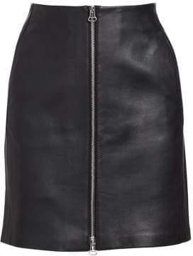 Rag & Bone Rag& Bone Rag& Bone Women's Heidi High-Waist Leather Skirt - Black - Size 26 (2-4)