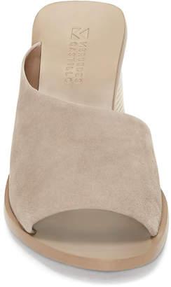 Mercedes Benz Castillo Izar Suede Low-Heel Architectural Slide Sandals