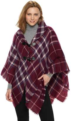 Apt. 9 Women's Plaid Cowlneck Poncho
