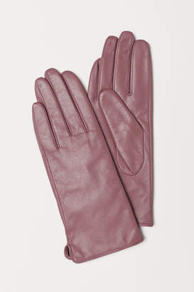 H&M Leather Gloves - Pink