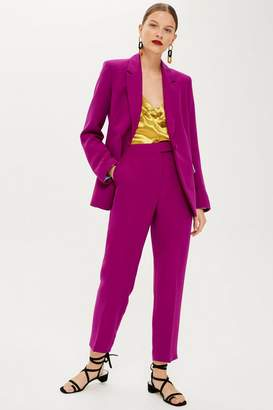 Topshop Magenta Suit Trousers
