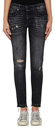 R 13 Women's Alison Skinny Distressed Jeans - Strummer Black