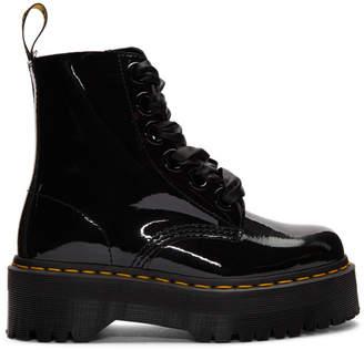 Dr. Martens Black Patent Molly Lolita Boots