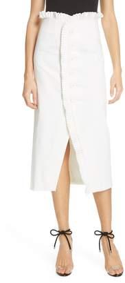 AMUR Paulina Ruffle Stretch Organic Cotton Skirt