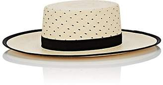 Janessa Leone Women's Kenton Straw Boater - Neutral