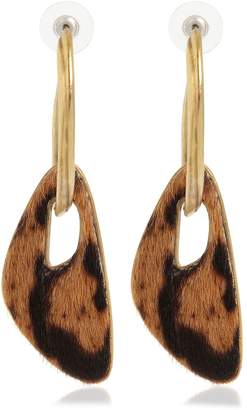 Saint Laurent Ponyskin Pendant Hoop Earrings