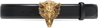 Gucci Leather belt with wolf head