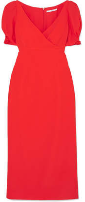 Emilia Wickstead Karinette Crepe Midi Dress - Red