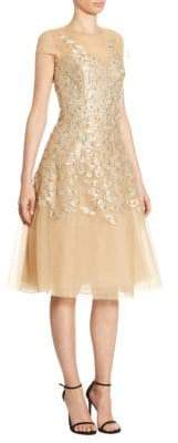 Ahluwalia Ahluwalia Women's Richa Metallic Dress - Gold - Size 2