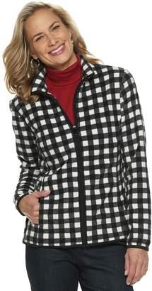 Croft & Barrow Women's Print Fleece Jacket