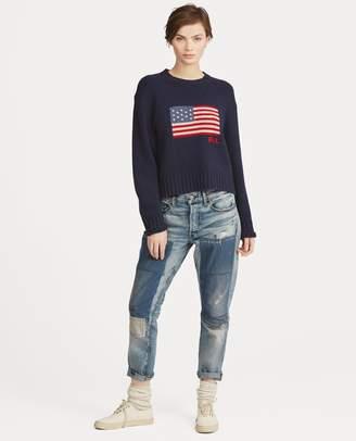 Ralph Lauren Flag Wool-Cashmere Sweater