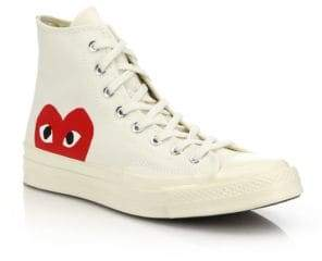Comme des Garcons Women's Peek-A-Boo Canvas Sneakers - Black - Size 12