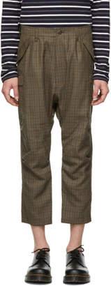 Junya Watanabe Brown Wool Cargo Pants