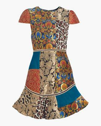 Alice + Olivia Rapunzel Patchwork Dress