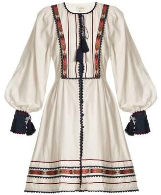 Athena Talitha Zoya Embroidered Cotton Dress - Womens - Ivory Multi