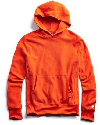 Todd Snyder + Champion Terry Popover Hoodie Sweatshirt in Sunset Orange