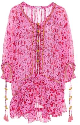Poupette St Barth Fleur embroidered cotton dress
