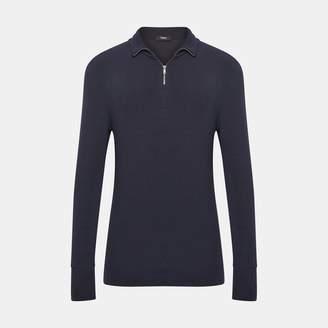 Modal Ribbed Half-Zip Sweater