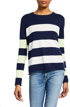 Lisa Todd Plus Size Stripe It To Me Colorblock Cotton Sweater