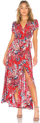 AUGUSTE Abigail Wrap Maxi Dress