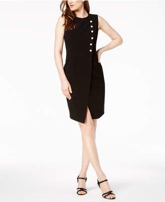 Calvin Klein Imitation-Pearl Wrap Sheath Dress