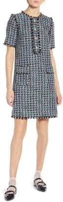 Halogen x Atlantic-Pacific Fringe Tweed Dress