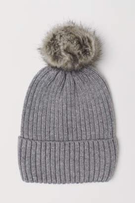 H&M Ribbed Hat - Gray