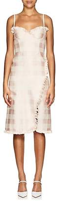 Brock Collection Women's Osanna Gingham Cotton-Blend Midi-Dress - 680-Light Pastel Pink