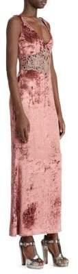 Ralph Lauren Women's 50th Anniversary Annetta Velvet Evening Dress - Pink - Size 8