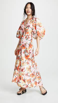 Lee Mathews Margot Puff Sleeve Dress