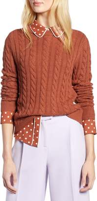 Halogen x Atlantic-Pacific Cable Sweater