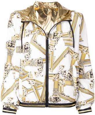 Versace signature print bomber jacket