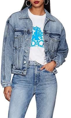 Jordache Women's Denim Crop Trucker Jacket - Blue