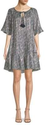 Kobi Halperin Kobi Halperin Women's Paisley-Print Shift Dress - Deep Sky Multi - Size Small